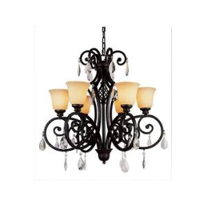 Crystal Flair - Six Light Crystal Chandelier