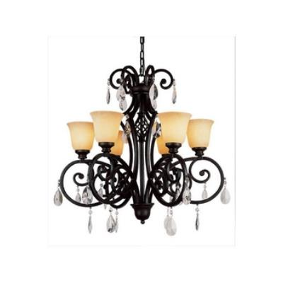 Trans Globe Lighting 9936 Crystal Flair - Six Light Crystal Chandelier