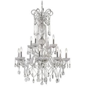 HL - Twelve Light 2-Tier Chandelier