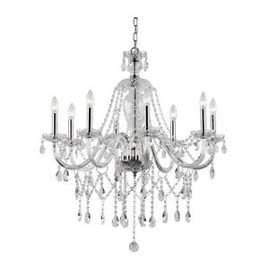 Crystal Fountain - Eight Light Chandelier