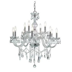 HU - Twelve Light 2-Tier Chandelier