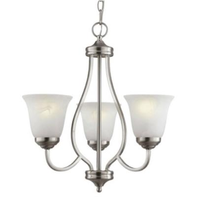 Trans Globe Lighting PL-10007 AGB Three Light Chandelier