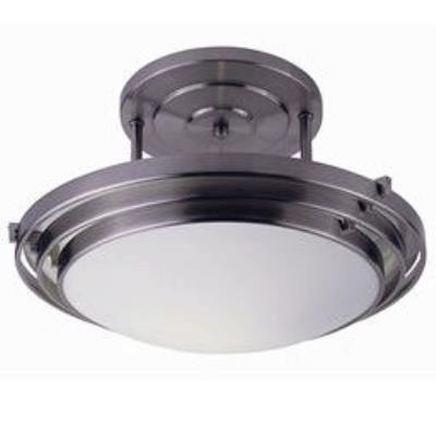 Trans Globe Lighting PL-2480 WH One Light Medium Semi-Flush Mount