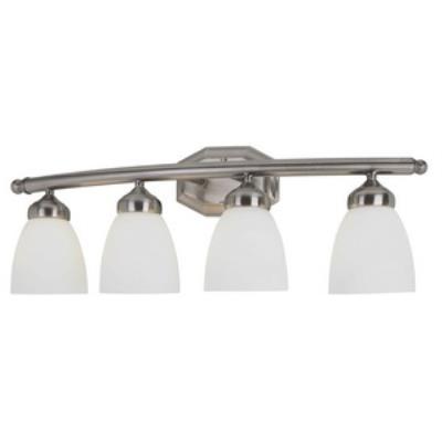 Trans Globe Lighting PL-2514 BN Tempo - Four Light Bath Vanity
