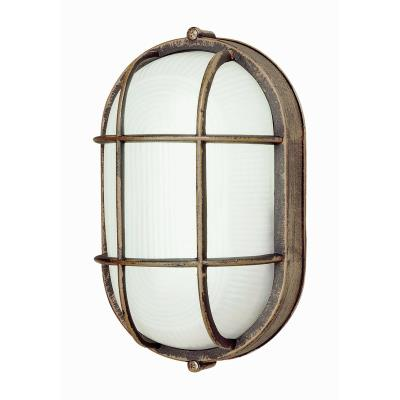 Trans Globe Lighting PL-41015 WH One Light Outdoor Oval Bulk Head