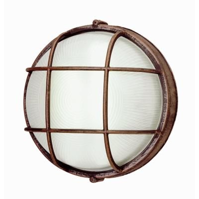 Trans Globe Lighting PL-41515 WH One Light Outdoor Round Bulk Head