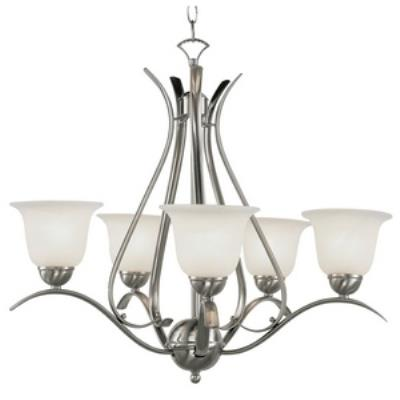 Trans Globe Lighting PL-9285 Ribbon Branched - Five Light Chandelier