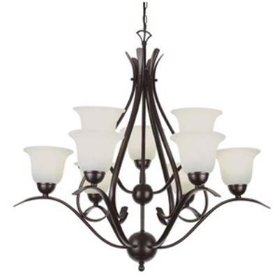 Trans Globe Lighting PL-9289 Ribbon Branched - Nine Light 2-Tier Chandelier