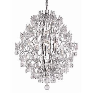 Silver - Six Light Chandelier