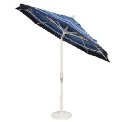 "Treasure Garden UM8100-4825 MOCHA Octagon Series - 9"" Auto Tilt Umbrella"
