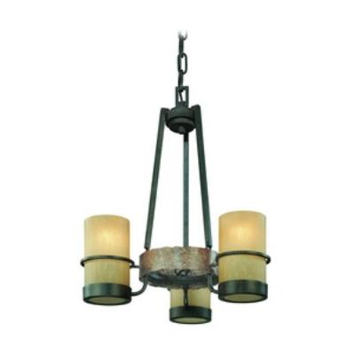 Troy Lighting F1845 Bamboo - Three Light Chandelier