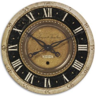 """Uttermost 06028 Auguste Verdier - 27"""" Round Wall Clock"""