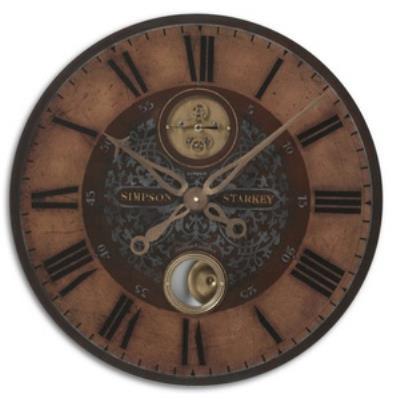 "Uttermost 06038 Simpson Starkey - 23"" Round Wall Clock"