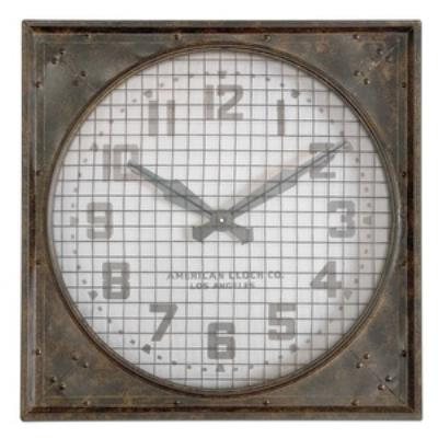 "Uttermost 06083 Warehouse - 26"" Clock with Grill"