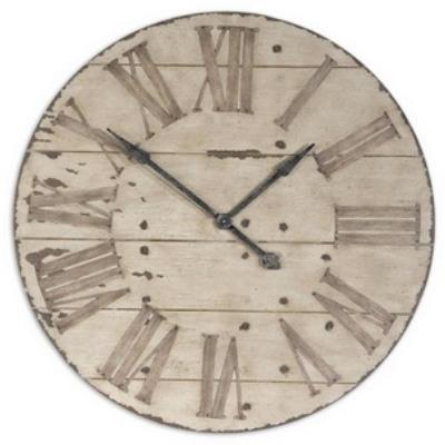 "Uttermost 06671 Harrington - 36"" Round Wooden Wall Clock"