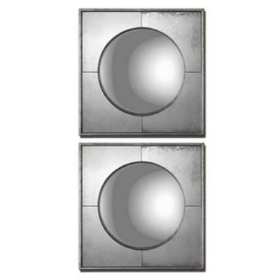 "Uttermost 12829 Savio Squares - 15.75"" Mirror (Set of 2)"
