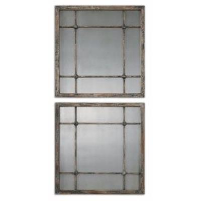 "Uttermost 13845 Saragano - 19"" Square Mirror (Set of 2)"