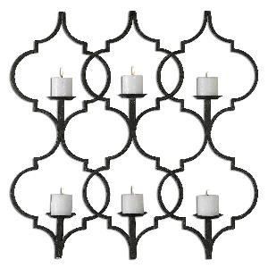 "Zakaria - 35.63"" Metal Candle Wall Sconce"
