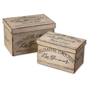 "Chocolaterie - 12"" Decorative Box (Set of 2)"
