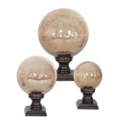 "Uttermost 19563 Lamya - 7"" Glass Globe Finial (Set of 3)"