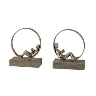 Uttermost 19596 Lounging Reader - Decorative Bookend (Set of 2)