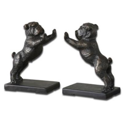Uttermost 19643 Bulldogs - Decorative Sculpture (Set of 2)