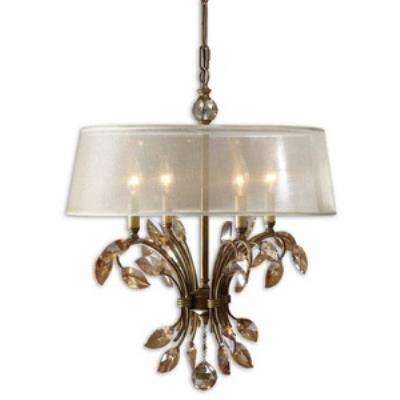 Uttermost 21245 Alenya - Four Light Chandelier