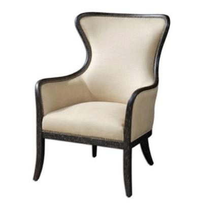 "Uttermost 23051 Zander - 41"" Wing Back Arm Chair"