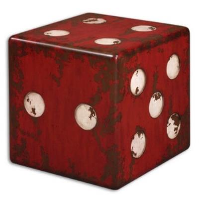 "Uttermost 24168 Dice - 18.75"" Accent Table"