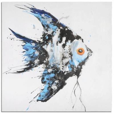 "Uttermost 32243 Blue Angel - 48"" Ocean Fish Wall Art"