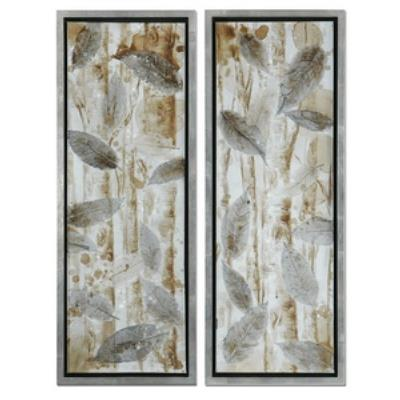 "Uttermost 41412 Pressed Leaves - 51"" Decorative Wall Art - (Set of 2)"