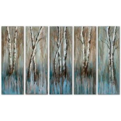 "Uttermost 41416 Birch Family - 36"" Wall Art (Set of 5)"