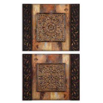 Uttermost 51054 Ornamentational Block I, II - Decorative Wall Art