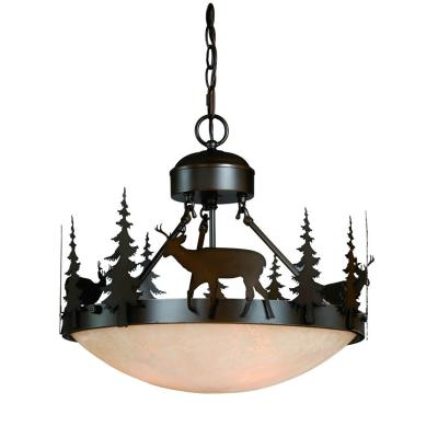 Vaxcel Lighting CF55418BBZ Bryce - Three Light Semi-Flush Mount