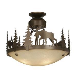 Yellowstone - Three Light Semi-Flush Mount