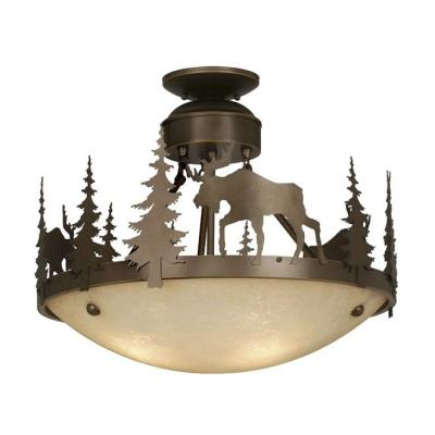 Vaxcel Lighting CF55618BBZ Yellowstone - Three Light Semi-Flush Mount