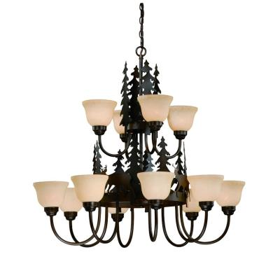 Vaxcel Lighting CH55412BBZ Bryce - Twelve Light Chandelier