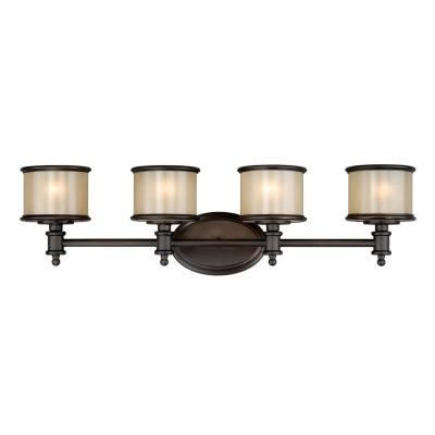 Vaxcel Lighting CR-VLU004NB Carlisle - Four Light Bath Bar