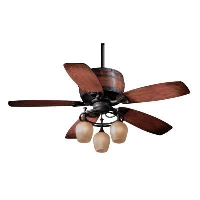"Vaxcel Lighting FN52455OBB Cabernet - 52"" Ceiling Fan"