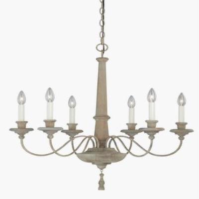 & Vaxcel Lighting - H0079 - Lucca - Six Light Chandelier azcodes.com