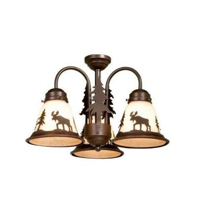 Vaxcel Lighting LK55616BBZ-C Yellowstone - Three Ceiling Fan Light Kit
