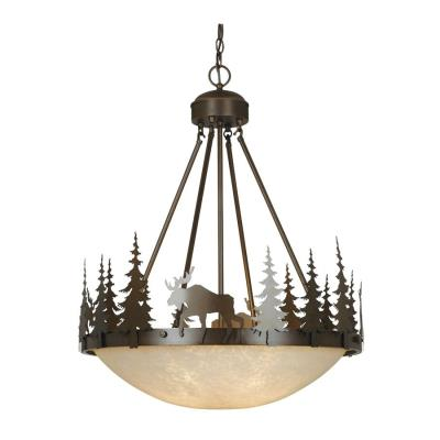 Vaxcel Lighting PD55624BBZ Yellowstone - Four Light Pendant
