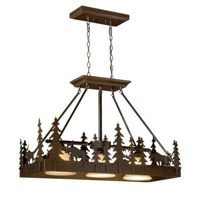 Vaxcel Lighting PD55636BBZ Yellowstone - Three Light Pendant