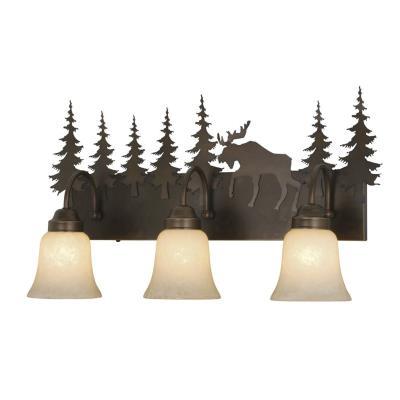 Vaxcel Lighting VL55603BBZ Yellowstone - Three Light Bath Bar