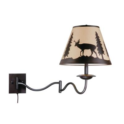 Vaxcel Lighting WL55412BBZ Bryce - One Light Wall Mount