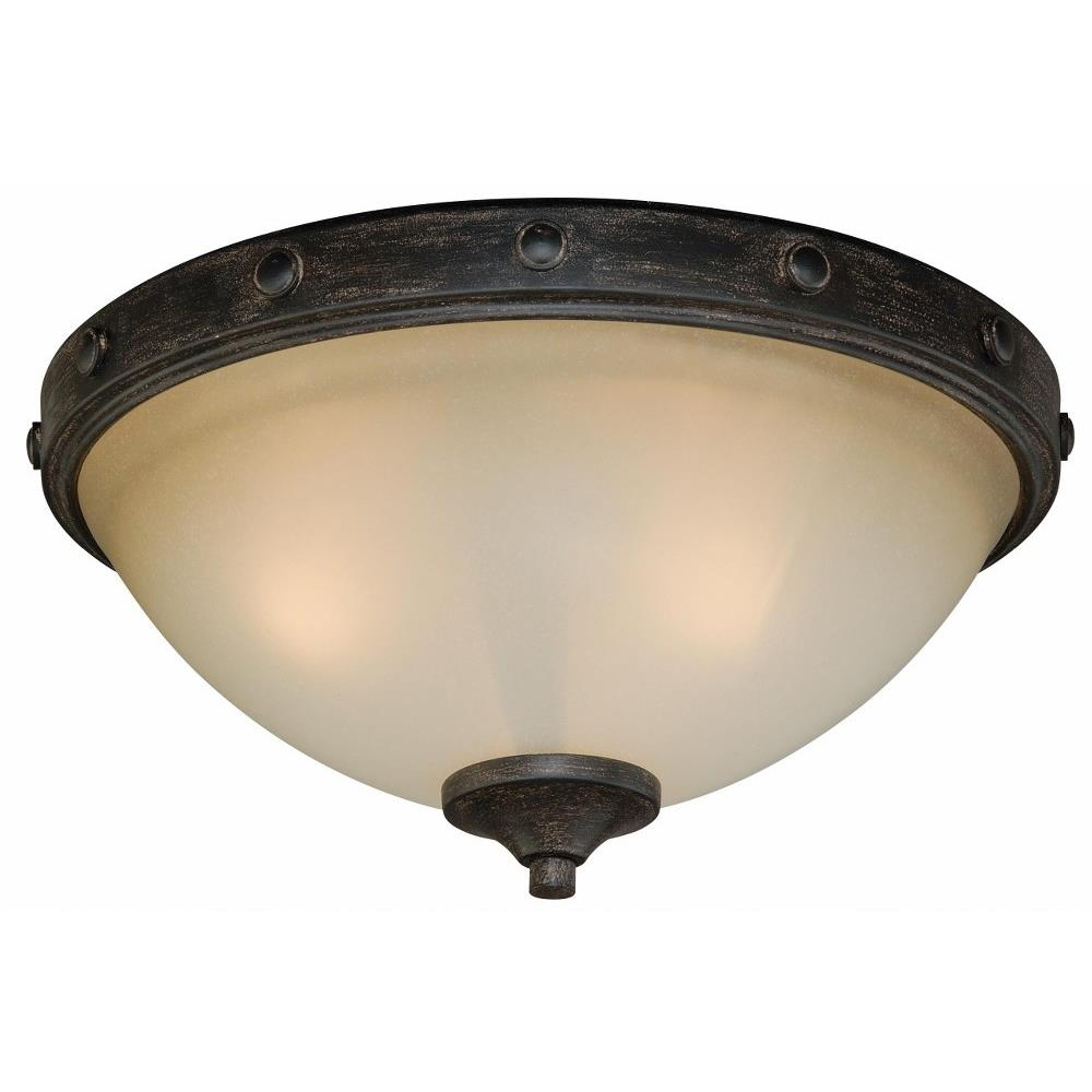 Vaxcel lighting c0076 halifax two light flush mount