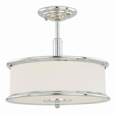 sc 1 st  Vaxcel Lighting Lights & Vaxcel Lighting - C0099 - Carlisle - Three Light Semi-Flush Mount azcodes.com