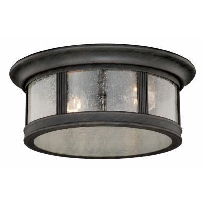 Vaxcel lighting t0155 hanover two light outdoor flush mount aloadofball Images