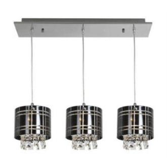 Access Lighting 50971-CH/BL Kalista - Three Light Bar Pendant with Crystal Drop