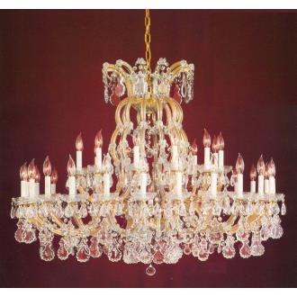 Crystorama Lighting 4308 Maria Theresa - Thirty-Seven Light Chandelier